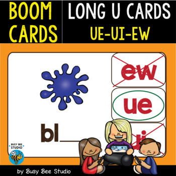 Boom Cards | Long U Cards (ue,ui,ew)