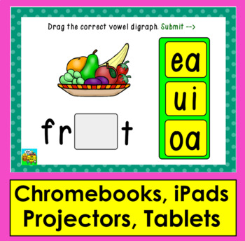 Boom Cards™ Long Vowel Digraphs Interactive Self-Checking Digital Cards