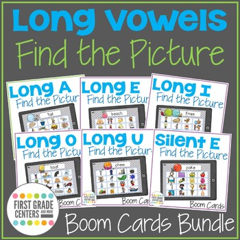 Boom Cards Long Vowels Find the Pictures