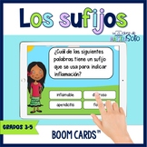 Los sufijos  Spanish Suffixes Boom Cards™ Distance Learning
