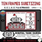 Boom Cards™ Love Robot Tens Frames Numbers 0-10 - Distance Learning
