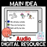 Boom Cards Main Idea Reading Comprehension