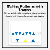 Boom Cards: Making Patterns with Shapes