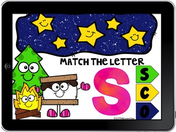 Boom Cards Match the Alphabet with S'mores