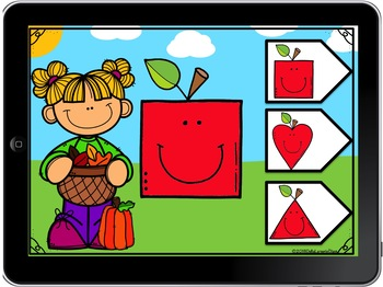 Boom Cards Matching Apple Shapes