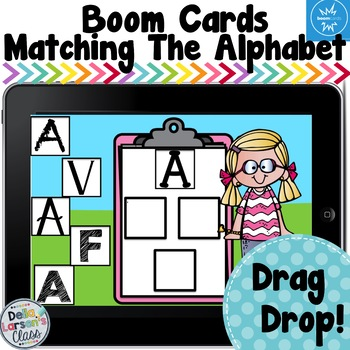 Boom Cards Matching Different Letter Fonts