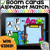 Boom Cards Matching Fonts -Frogs with Video