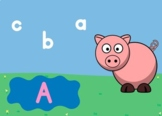 Boom Cards: Matching Uppercase and Lowercase - Pig