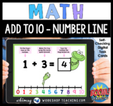 Boom Cards Math Add to 10 Number Line Digital Task Cards D