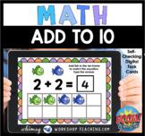 Boom Cards Math Add to 10 Ten Frames Digital Task Cards Di