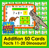 Boom Cards Math Addition Facts 11-20 MULTIPLE CHOICE 50 Ca