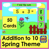 Boom Cards Math Addition SPRING Animations Facts to 10 MUL