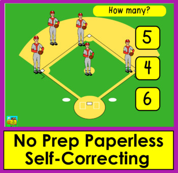 Boom Cards Math: Animated Sports! Counting to 10: Click the Correct Answer