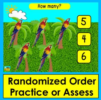 Boom Cards Math: Animated Zoo Animals! Counting to 10: Click the Correct Answer