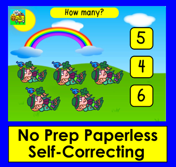 Boom Cards St. Patrick's Day Math: Animated Leprechauns! Counting to 10