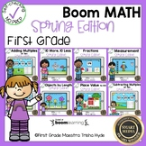 Boom Cards Math Bundle First Grade Spring