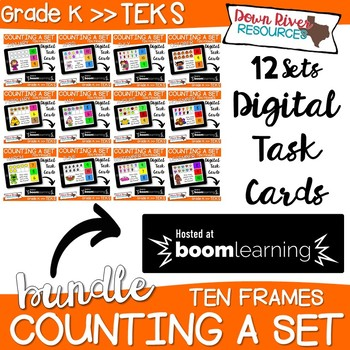 Boom Cards Math Bundle | Ten Frames Kindergarten TEKS {Monthly Math}