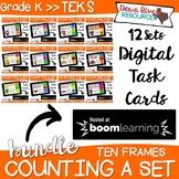 Boom Cards Math Bundle | Ten Frames Kindergarten TEKS {Mon
