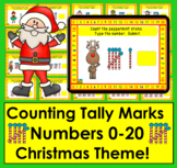 Boom Cards Math Christmas Tally Marks Counting to 20 - No Prep - Self-Correcting