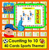 Boom Cards™ Math Counting to 10 - Sports Theme - 40 Cards!