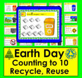 Boom Cards Math: Earth Day Recycle Reuse:  Drag and Count