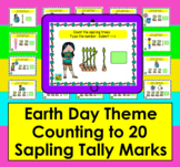 Boom Cards Earth Day Math: Tally Marks Counting to 20 - No Prep -Self-Correcting