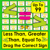 Boom Cards Math Greater Than, Less Than, Equal To: 30 Cards Numbers to 99!