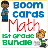 Boom Cards Math Growing Bundle First Grade