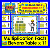 Boom Cards Math Multiplication Facts: Elevens Table TYPE ANSWERS:  25 Cards