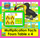Boom Cards Math Multiplication Facts: Fours Table MULTIPLE CHOICE:  25 Cards