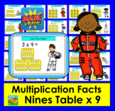 Boom Cards Math Multiplication Facts: Nines Table TYPE ANSWERS:  25 Cards