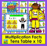 Boom Cards Math Multiplication Facts: Tens Table TYPE ANSWERS:  25 Cards