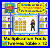 Boom Cards Math Multiplication Facts: Twelves Table TYPE ANSWERS:  25 Cards