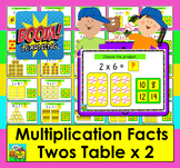 Boom Cards Math Multiplication Facts: Twos Table MULTIPLE CHOICE:  25 Cards