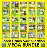 Boom Cards Math:  Multiplication MEGA Bundle: End of Year or Summer Fun Review!