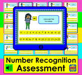 Boom Cards™  Math Number Recognition Assessment or Practice Numbers 0-25