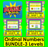 Boom Cards Math:  Ordinal Numbers Activities BUNDLE: Differentiate!