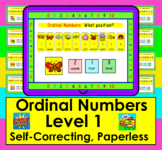 Boom Cards Math Ordinal Numbers Activities - Level 1