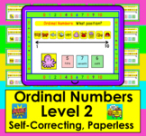 Boom Cards Math Ordinal Numbers Activities - Level 2