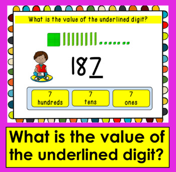 Boom Cards Math Place Value to 999- Interactive Self-Checking Digital Task Cards