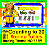 Boom Cards Math: Race Track Tally Marks Counting to 20