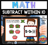 Boom Cards Math Subtract To 10 Cross Out Digital Task Card