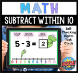 Boom Cards Math Subtract Within 10 Number Line Distance Learning