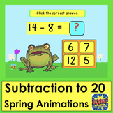 Boom Cards  Math Subtraction 50 Facts 11-20 Multiple Choic