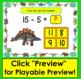 Boom Cards  Math Subtraction: 50 Facts 11-20: Multiple Choice:  Dinosaur Theme!
