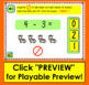 Boom Cards Math Subtraction: Kindergarten Fact Fluency to 5 - Animal Theme
