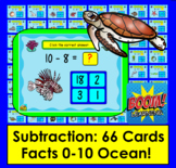 Boom Cards  Math Summer Subtraction 66 Facts to 10 Multipl