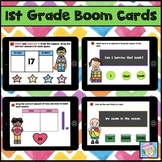 Back to School Activities 1st Grade Math and Literacy Boom Cards BUNDLE
