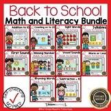 Boom Cards Math and Literacy Back to School