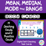 Boom Cards Mean, Median, Mode and Range Practice Self Chec